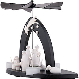 1-Tier Pyramid Nativity - Black - 23 cm / 9.1 inch