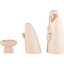Holy Family, natural 3 pcs. - 12 cm / 4.7 inch