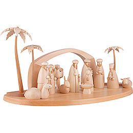 Nativity Set of 15 Pieces - Natural