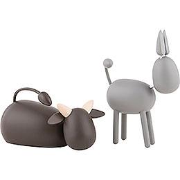 Ochs und Esel - KAVEX-Krippe - 11,5 cm