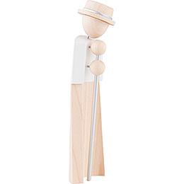 Hirte mit Stab - natur/weiß - KAVEX-Krippe - 17 cm