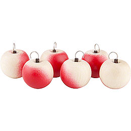 Apples with Hook- 6 pieces - 2 cm / 1 inch