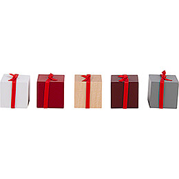 Presents with Ribbon - 5 pieces - Mixed Colors - 2,5 cm / 1 inch