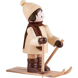 Thiel Figurine - Skier - natural - 5,5 cm / 2.2 inch