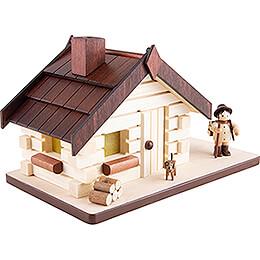 Räucherhaus Waldarbeiter - 11 cm