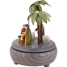 Music Box - Nativity - Grey - 18 cm / 7 inch