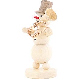 Snowman Musician Tuba - 12 cm / 4.7 inch