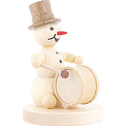Snowman Musician Kettledrum - 12 cm / 4.7 inch