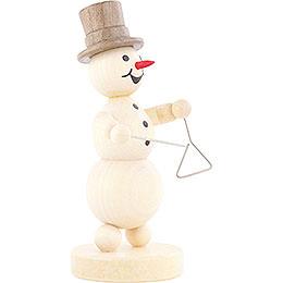 Snowman Musician Triangle - 12 cm / 4.7 inch