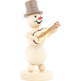 Snowman Musician Guitar - 12 cm / 4.7 inch
