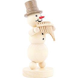 Snowman Musician Panpipes - 12 cm / 4.7 inch