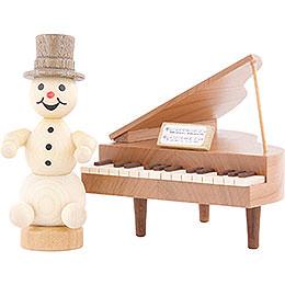 Snowman Musician Piano - 12 cm / 4.7 inch
