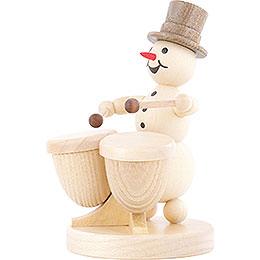 Snowman Musician Timpani - 12 cm / 4.7 inch
