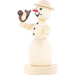 Schneefrau mit Vogel - 11 cm