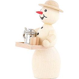 Schneefrau Wirtin mit Bierkrug ohne Sockel - 12 cm