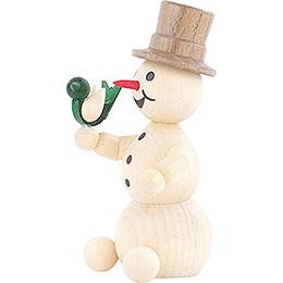 Snowman with Bird - 8 cm / 3.1 inch