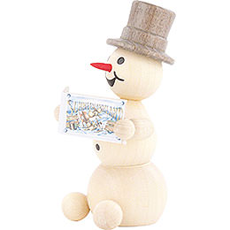 Snowman with Book - 8 cm / 3.1 inch