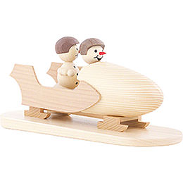Snowman Two-Man Bobsled with Helmet - 10 cm / 3.9 inch