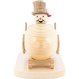 Snowman Four-Man Bobsled with Zylinder - 10 cm / 3.9 inch