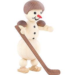 Schneemann Eishockeyspieler stehend Helm - 10 cm