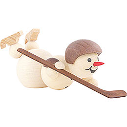 Snowman Ice Hockey Player lying Helmet - 8 cm / 3.1 inch