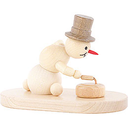 Snowman Curling Player with Stone - 8 cm / 3.1 inch