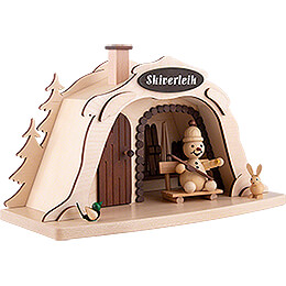 Smoking Hut - Ski Rental with Junior Snowman - 17 cm / 6.7 inch
