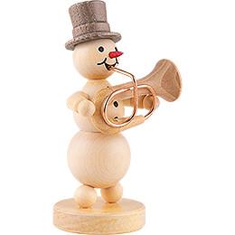 Snowman Musician Bass Trumpet - 12 cm / 4.7 inch