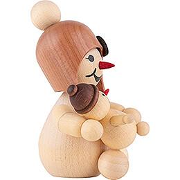 Schneemädchen mit Puppe - 7 cm