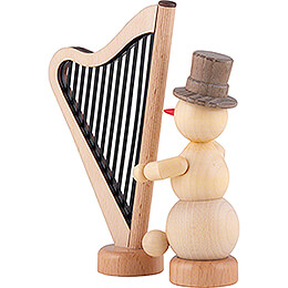 Snowman Musician Harp - 12 cm / 4.7 inch