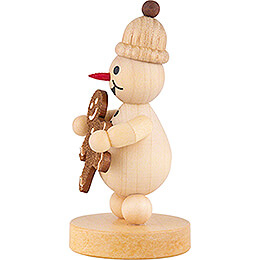 Snowman Junior with Gingerbread Man - 9 cm / 3.5 inch