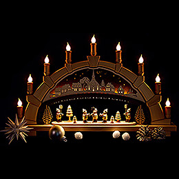 Candle Arch - Seiffen Church with Carolers - 66x40 cm / 26x15.7 inch