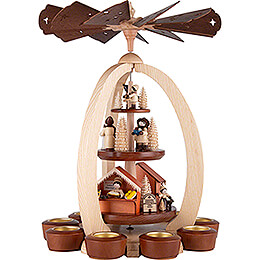 3-Tier Pyramid Christmas Market - Exclusive - 44 cm / 17.3 inch
