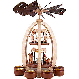 2-Tier Pyramid - Nativity with Thiel-Figurines - Exclusive - 44 cm / 17.3 inch