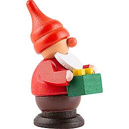 Dwarf with Present - 6 cm / 2.4 inch