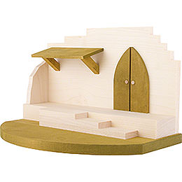Nativity Stable - Central Part - 31x19 cm / 12.2x7.4 inch