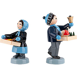 Winter Children Striezel Children - 2 pcs. - blue - 7 cm / 2.8 inch