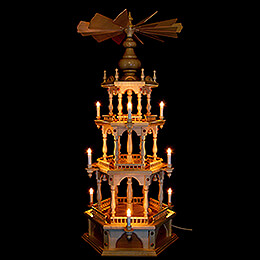 3-stöckige Pyramide unbestückt - 110 cm