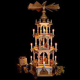 3-stöckige Pyramide Christi Geburt - 110 cm