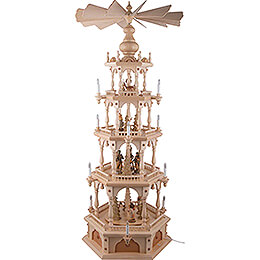 4-Tier Pyramid - Ore Mountain Forest People - 140 cm / 55.1 inch