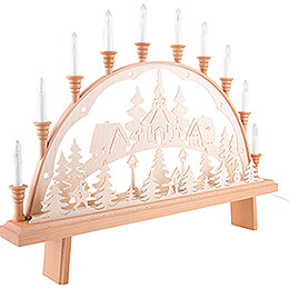 Candle Arch - Seiffen Church - 67x50 cm / 26.4x19.7 inch