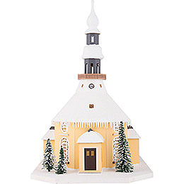 Lighted House Seiffen Church - 40 cm / 15.7 inch
