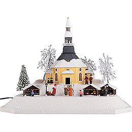 Lighted House Christmas Market, LED - 26 cm / 10.2 inch