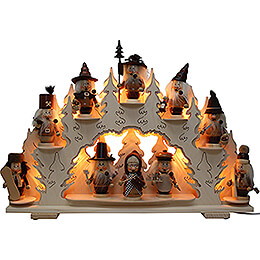 Collector Candle Arch for Mini-Gnomes - without Figurines - 70x46 cm / 27.6x18.1 inch