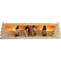 Stand for Collector Candle Arch Mini-Gnomes - without Figurines - 80x23 cm / 31.5x9.1 inch