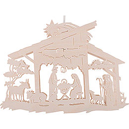 Window Picture - Nativity Scene in Stable - 25 cm / 9.8 inch