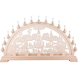 Schwibbogen Weihnachtsmarkt - 89x49 cm