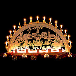 Candle Arch - Christmas Market - 89x49 cm / 35x19.3 inch