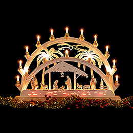 Candle Arch - Palm Tree - Nativity with Shepherd - 73x53 cm / 28.7x20.9 inch