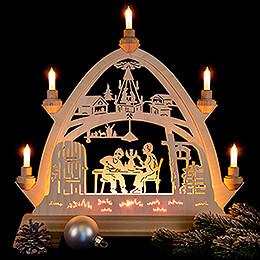 Gotischer Bogen Weihnachtsstube - 42x42,5 cm
